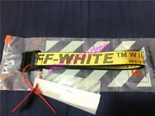 Yellow Off White Belt Tie Down Nylon Cotton IRON Head Industrial Belt Size 130cm