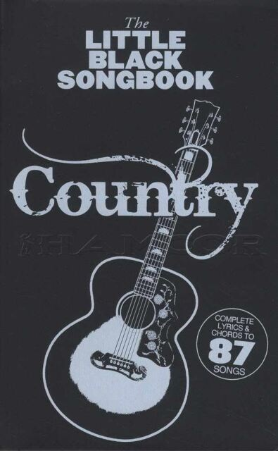 Country The Little Black Songbook Guitar Chord Johnny Cash Willie Nelson