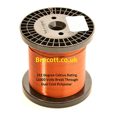 1500 Gram Spool 0.18mm ENAMELLED COPPER WINDING WIRE MAGNET WIRE COIL WIRE