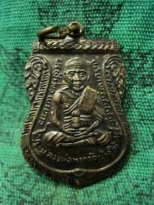 Phra-LP-Tuad-Pendant-LP-Tim-Wat-Changhai-Talisman-Coin-Old-Thai-Buddha-Amulet