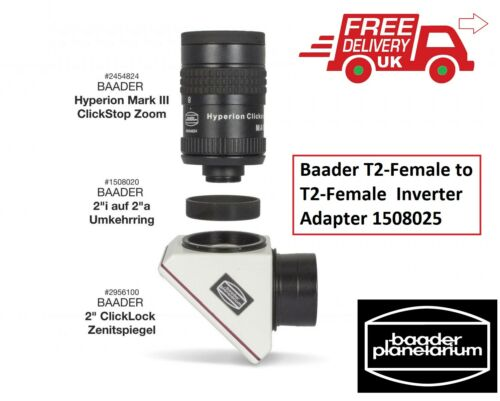 Baader T2-Female to T2-Female Inverter Adapter 1508025 UK Stock