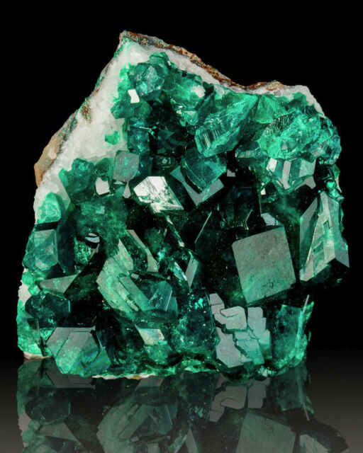 "1.4"" Bright Sparkling Green DIOPTASE Crystals on Matrix Kipese M Congo for sale"