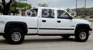 Details About 1999 2006 Chevy Silverado 2500hd Factory Style Fender Flares In Matte Black 4 Pc