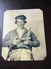 civil war Confederate Private Japheth Collins tintype C705RP