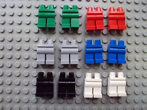 Lego-Minifig-Mixed-Lot-Of-12-Legs-Pants-People-Parts-Red-Green-Blue-Gray-NEW