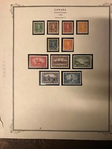 Canada-Stamps-Collection-Scott-217-227-Mint