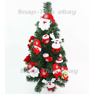 image is loading white christmas tree pendant baubles snowflake santa reindeer