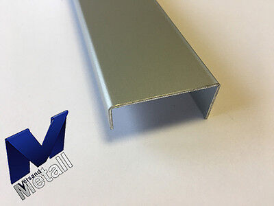 1500mm Aluminium U-Profil 20x60x20mm Kantenprofil aus 2mm Aluminium silber natur eloxiert Abdeckleiste