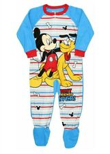 bff25c06dd Disney Mickey Mouse Pluto Best Friends Footed Pajama Blanket Sleeper Size 4T  NWT