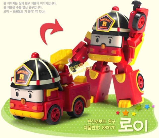 2015 Robocar Poli Transformation Robot Car Toys South Korea Thomas Kids Gift WH