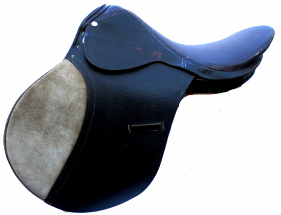 NICE  17 Marronee LEATHER CLOSE CONTACT JUMPING ENGLISH RIDING SADDLE