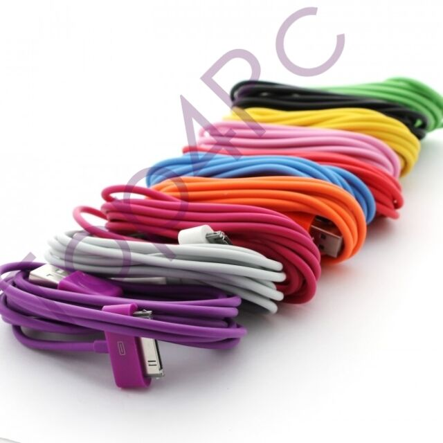 CHARGEUR POUR IPHONE 3 4 POUR IPHONE 4S CABLE USB SYNCHRO IPOD IPAD 2 METRES
