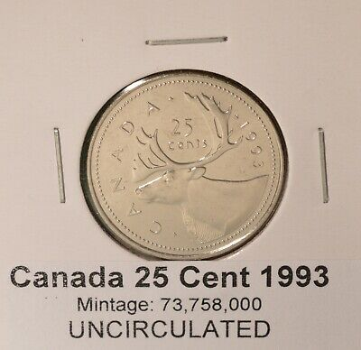 UNCIRCULATED from original mint roll 1994 Canada Quarter