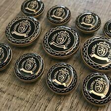 8pc 22mm Antique Brass Gold Metal Blazer Coat Cardigan Knitwear Button 3709