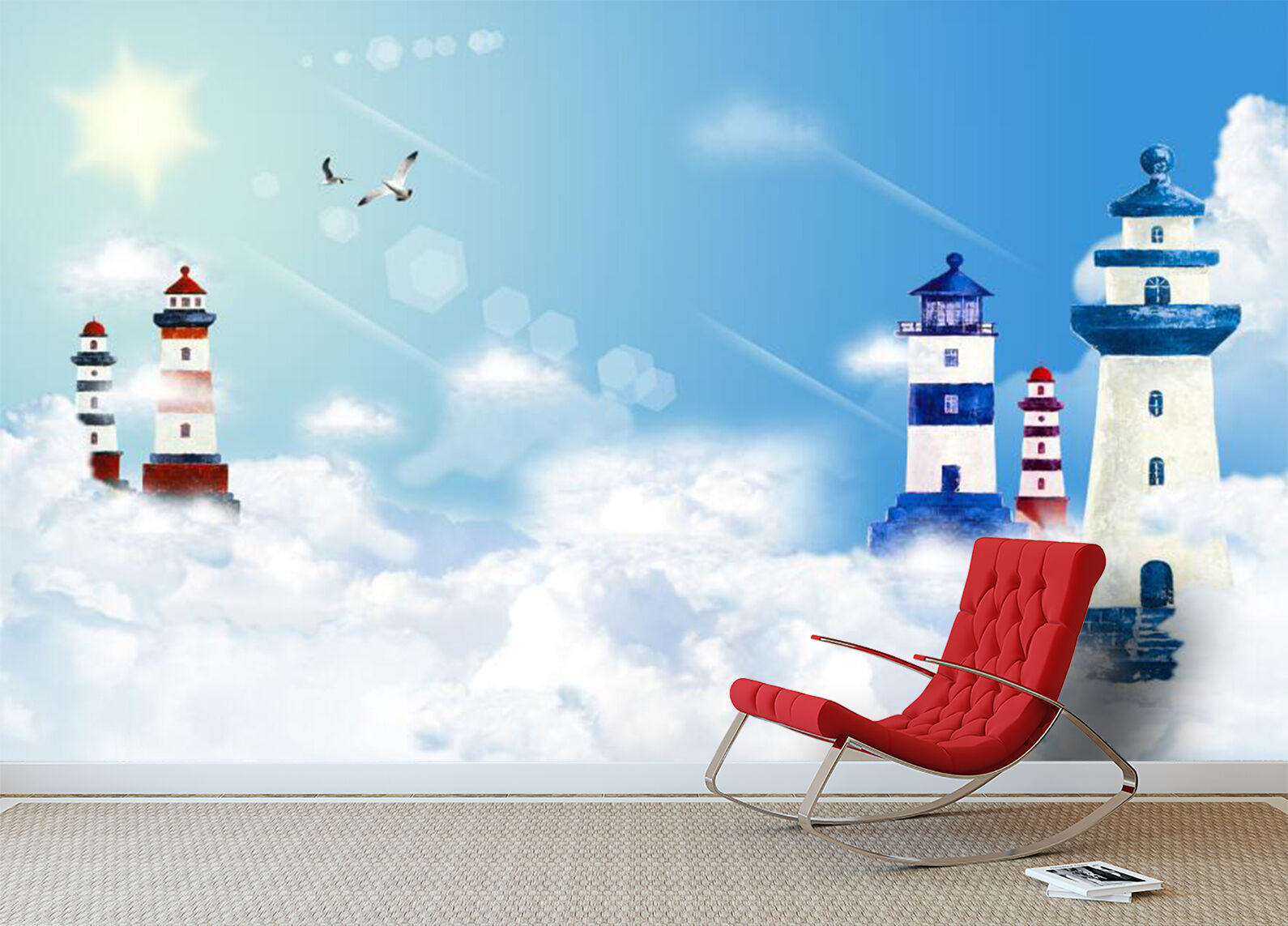 3D Tower Building Painting 980 Wall Paper Wall Print Decal Wall AJ WALLPAPER CA