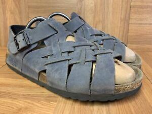Worn-Birkenstock-Tatami-Full-Covered-Strappy-Sandals-Buckle-Sz-41-L10-M8-265