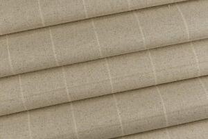 2-40m-Laura-Ashley-039-Elmore-Check-039-in-Linen-FR-Upholstery-Fabric