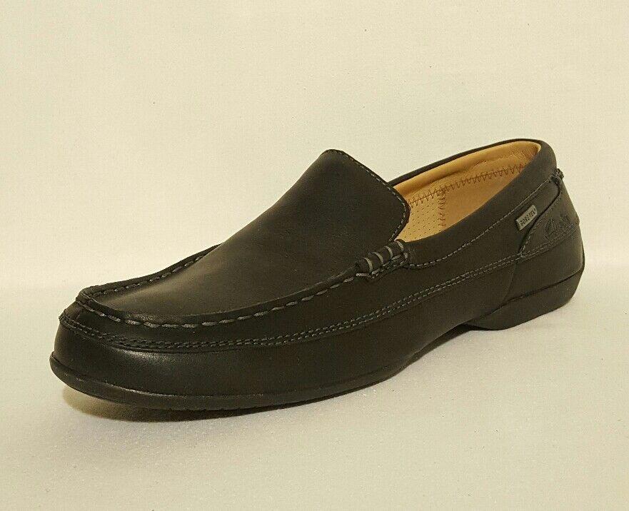 nouveau clarks soulèvent des chaussures imperméables en cuir noir soleil soleil noir de gtx mocassins bateau de pont edafae
