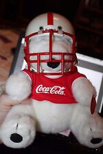COCA-COLA 1995 Super Bowl XXIX Plush Dakin Polar Bear Riddel Super Bowl Helmet