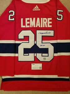 Jacques-Lemaire-signed-Montreal-Canadiens-Autographed-Jersey-HOF-Inscription-COA