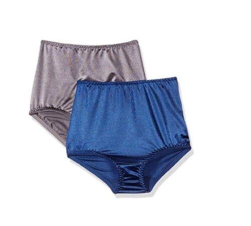 VASSARETTE Women/'s Undershapers 2-Pack Control Brief 40201 Navy//Steele 7//L