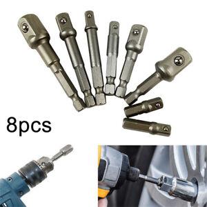 8tlg-1-2-3-8-1-4-Bohrmaschinen-Bohrfutter-Adapter-Set-Bit-Stecknuss-Nuss-Halter