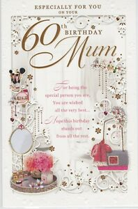 Image Is Loading Mum 60th Birthday Card Large Quality J200