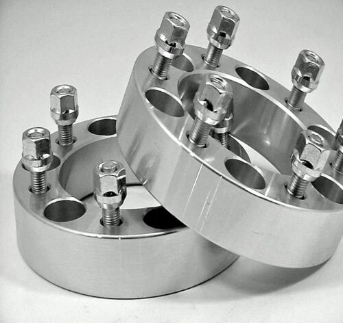6 LUG WHEEL SPACER ADAPTER 2.00 Inch # 6550E78 2 Pc CHEVY SUBURBAN HUB CENTRIC