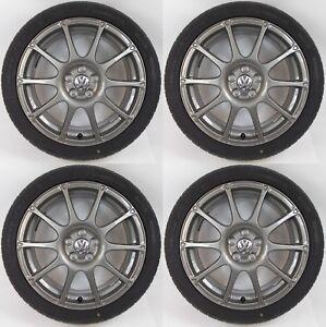 Conjunto-de-cuatro-Genuine-Vw-Polo-17-034-Antracita-Motorsport-Llantas-De-Aleacion-215-Pirelli