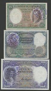 Lote-3-Billetes-25-50-100-De-1931-contramarca-resello-Republica-Muy-Raros