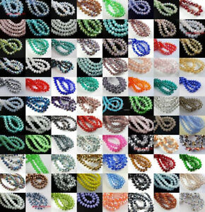 20-100Pcs-Rondelle-Faceted-Czech-Crystal-Glass-Loose-Spacer-Beads-4-6-8-10mm