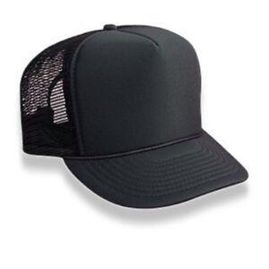 f9b3904f60c3b Image is loading Retro-Foam-amp-Mesh-Trucker-Baseball-Hat-Black