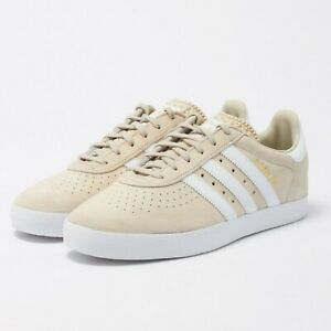 Uomo-Adidas-Originali-350-Ginnastica-Scarpe-Marrone-Bianco-BY9765-UK-10-11-Eu