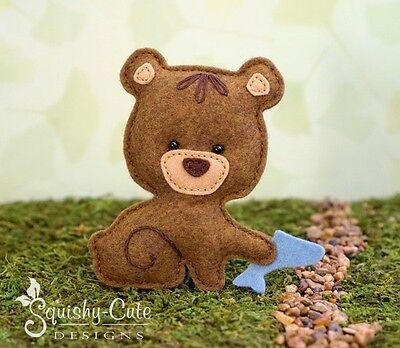 Softie Sewing Pattern Bear Sewing pattern Bear Plush pattern Felt sewing pattern PDF Pattern Bear Softie Pattern Woodland Animal