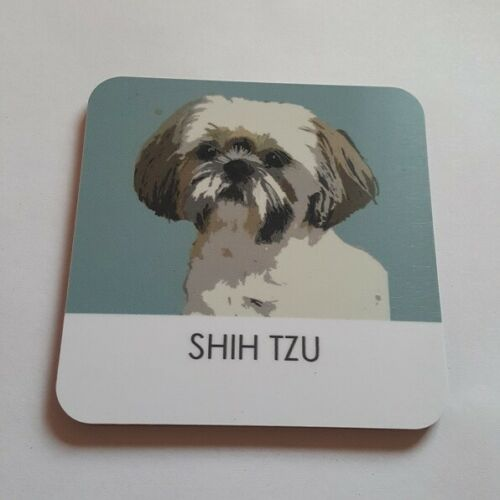 SHIH TZU DOG COASTER BY BETTY BOYNS LOVELY GIFT FOR SHIH TZU FANS FAST DISPATCH
