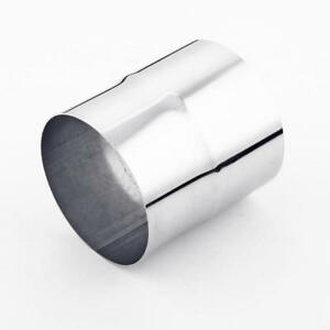 """4.5/"""" OD to 4.5/"""" ID 5/"""" Long Polished Stainless Steel Exhaust Pipe Tip Reducer"""