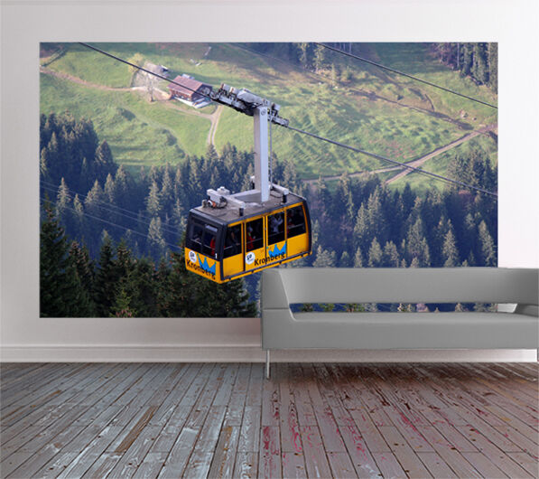 Cable Car over the forest landscape photo Wall Mural self adhesive wallpaper