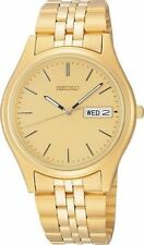 SEIKO Men's SGF526 Dress Gold Tone Stainless Steel Day & Date Quartz Watch