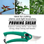 Bypass Pruner Tree Cutter Gardening Pruning Shear Scissor Stainless Steel Tool