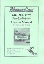 Ithaca Gun Model 37 Pump Featherlight Shotgun Owners Manual Handbook