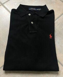 funzione Pellegrino Cantina  Maglia T Shirt Polo Ralph Lauren Uomo/ Donna Nero Slim Fit Manica Lunga    eBay
