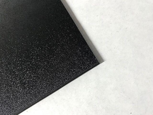 "Machine grade Black smooth ABS plastic sheet 1//8/"""