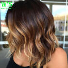 Top Sale Short Pixie Remy Human Hair Wigs Real Thick Heat Resistant Curl Wave #H