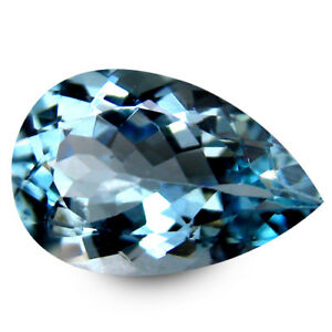 Details About 2 71 Cts Wonderful Rich Er Natural Fine Aquamarine Blue Color Pearshape Gems