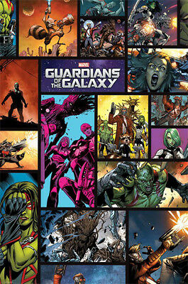LAMINATED GUARDIANS OF THE GALAXY POSTER COLLAGE PRINT NEW ART 61X91CM