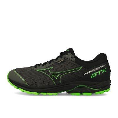Mizuno Wave Rider 22 GTX Gunmetal Black Green Chaussures De Course Gris Noir Vert | eBay