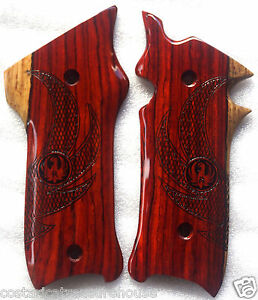 RUGER MKIII GRIPS COCOBOLO ROOT WOOD with EAGLE WINGS laser design R-15 NICE!!!