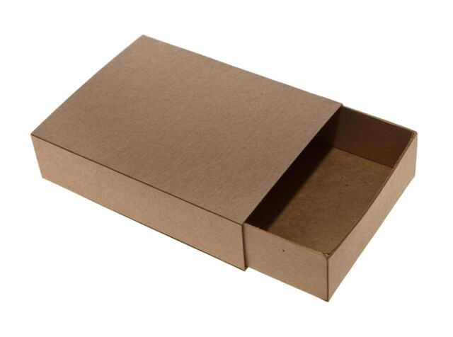 Recycled Brown Kraft Plain Medium Sized Match Boxes (50 Pack)