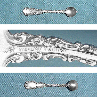 S ~ LOUIS XV ~ MONO G OVAL SOUP SPOON WHITING MFG STERLING PLACE