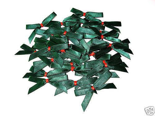 30 Navidad Forrest Verde//Rojo Liso Satén Arcos de 53MM de ancho